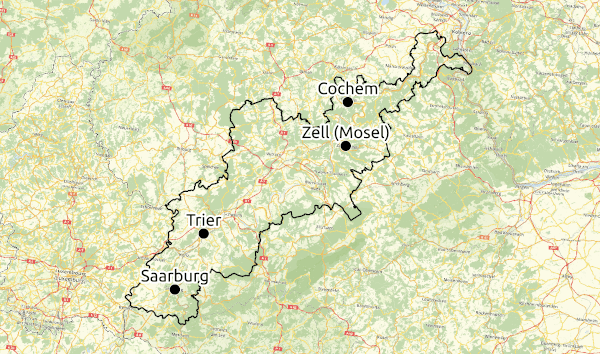 Karte Region Mosel-Saar © Open Street Map - CC-BY-SA 2.0