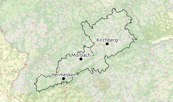 Karte Region Hunsrück © Open Street Map - CC-BY-SA 2.0